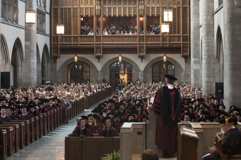 The Diploma and Hooding Ceremony took place in Rockefeller Chapel.