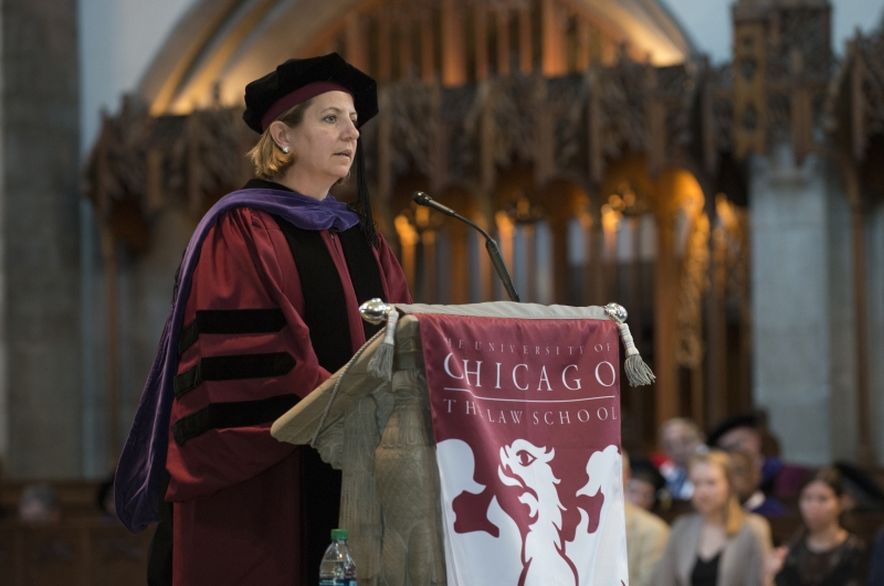 Former Homeland Security Adviser Lisa Monaco, '97, received the Distinguished Alumnus Award and spoke to graduates.