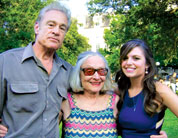 Adrianne Rosenbluth with her father and grandmother