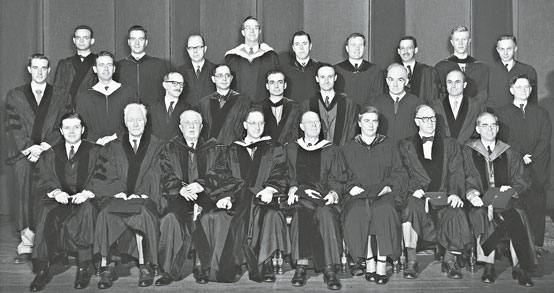 Douglas H. Parker in the middle back row