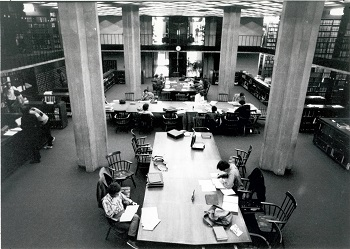 D'Angelo reading room in 1970s