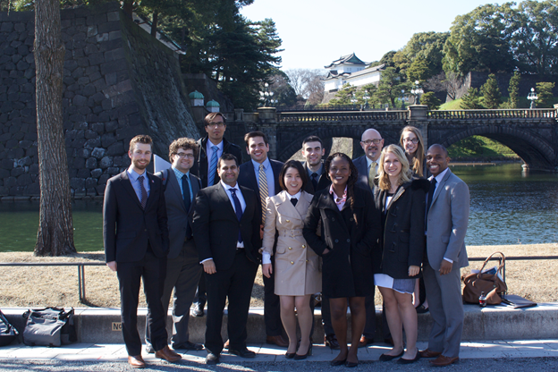 Students on the 2016 IIP trip to Japan