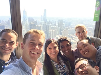 students at the Willis Tower skydeck
