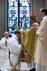 Father Pius at his ordination in 2007.