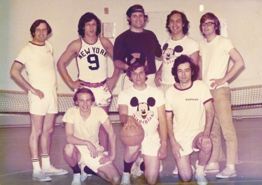 Supreme Court clerks pose in basketball uniforms
