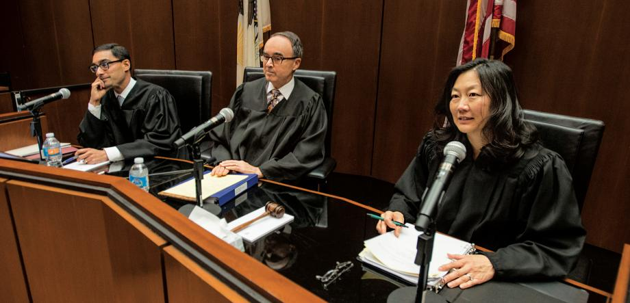 Hinton Moot Court judges