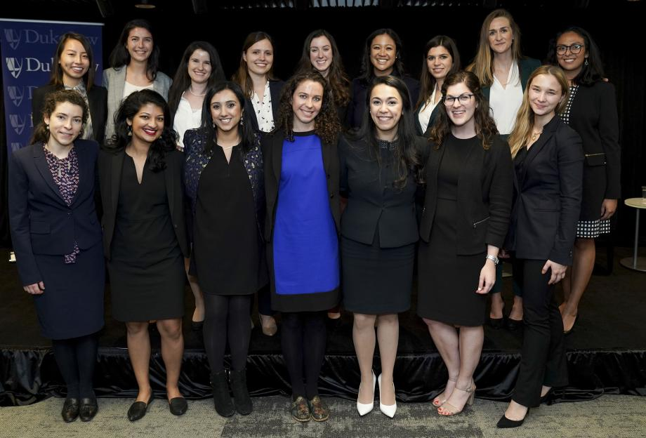 Emily Vernon, '20, (back row, fourth from left) with editors of other law reviews at a conference in Washington, DC, earlier this year.