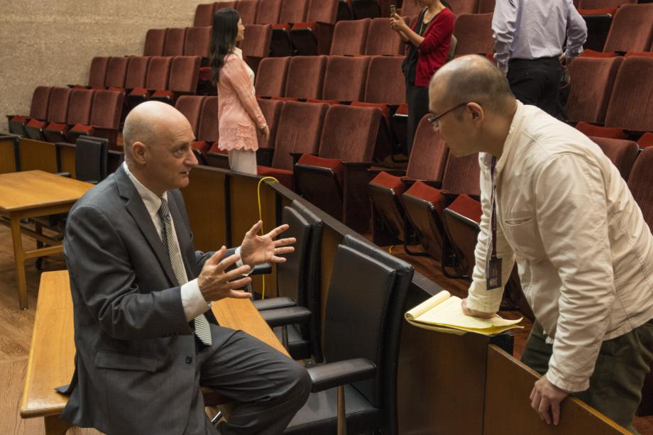 Omri Ben-Shahar [shown at the 2015 Institute], the Leo and Eileen Herzel Professor of Law and Kearney Director of the Coase-Sandor Institute for Law and Economics, launched the Summer Institute in 2012 in an effort to share the Law School's signature interdisciplinary field with the world. Since then, the Summer Institute has trained nearly 500 top international scholars.