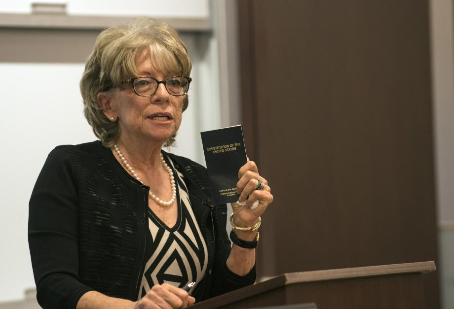 Schwartz Lecturer Ramo, '67, Says Lawyers Must Protect