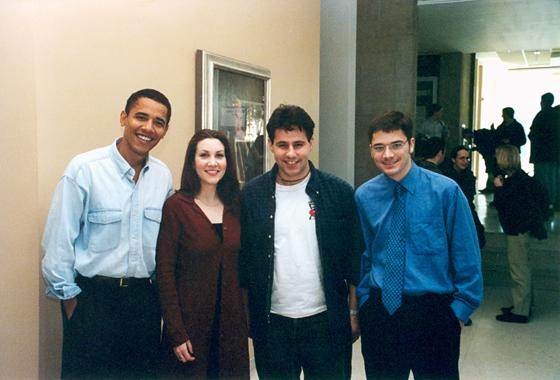Obama with students