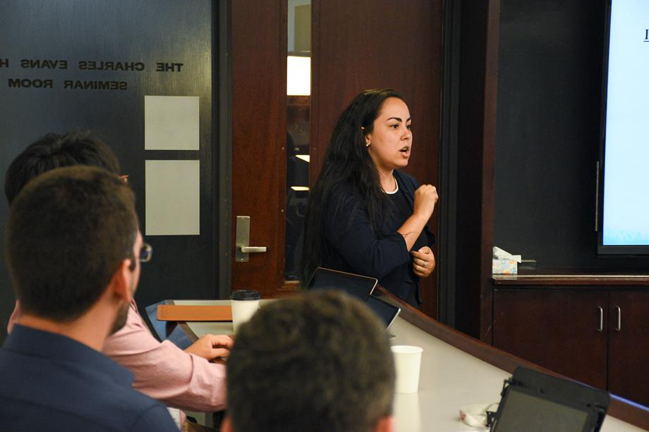 """The experience of attending the Summer Course was transformative for my academic development,"" said Carina de Castro Quirino, a professor from Brazil. ""There were very interesting debates and innovative ideas. The interaction of professors from Chicago Law School and scholars from around the world provided an essential space for … the critical development of law and economics."""