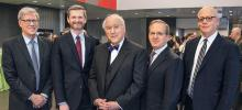 David Crabb with four UChicago Law Deans