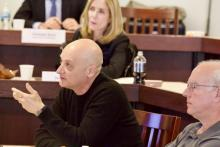 Professor Omri Ben-Shahar makes a point during the Law Review symposium on personalized law.