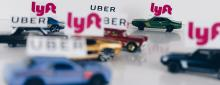 Uber and Lyft stock image